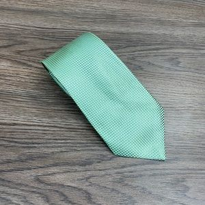 Michael Kors Green & Blue Check Silk Tie